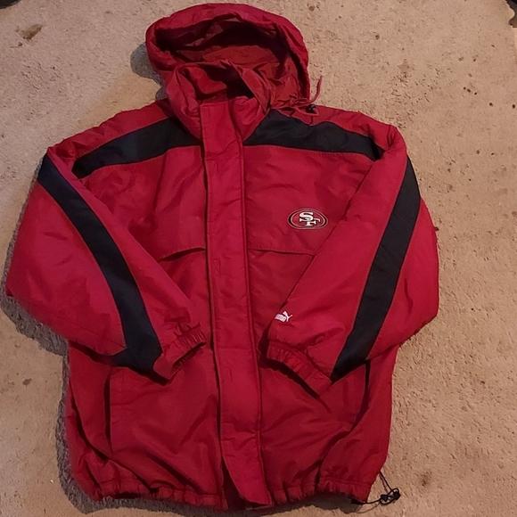 Puma San Francisco 49ers Hooded Jacket L